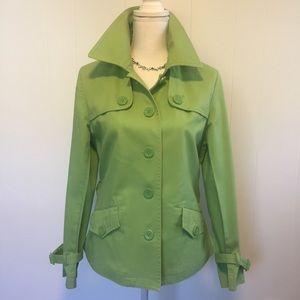 Talbots stretch short trench coat. Size 8.